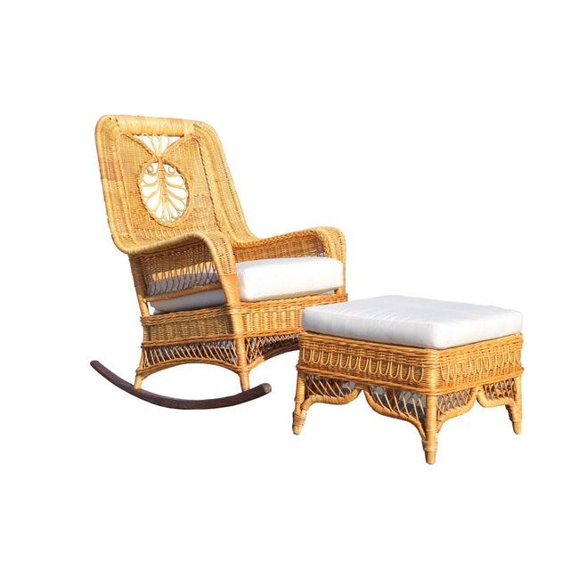 Ralph Lauren Ralph Lauren Rocking Chair & Foot Stool For Sale - Image 4 of 13