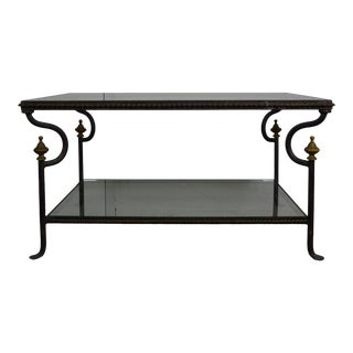 1980s Mediterranean Iron Coffee Table For Sale