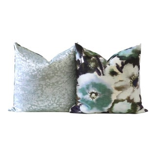 Velvet Designer Down Pillows For Sale