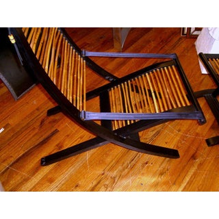 David Colwell Trannon C1 Reclining Lounge Chair and Ottoman Rattan Preview