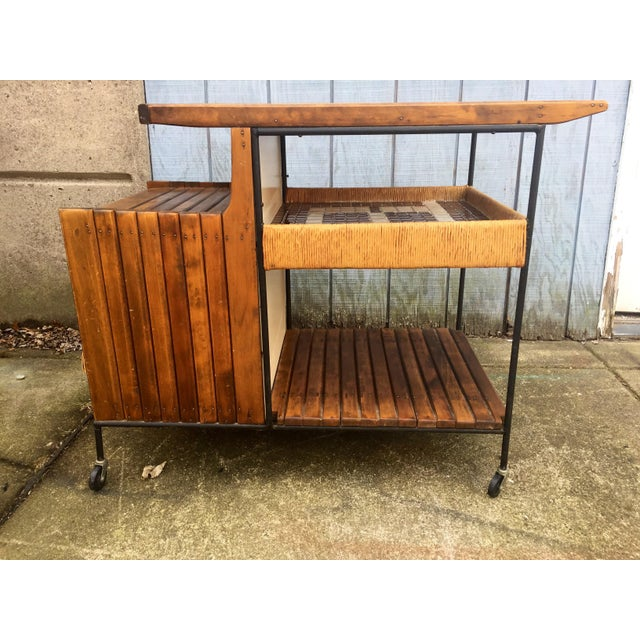 Stone Arthur Umanoff Mid-Century Bar Cart For Sale - Image 7 of 11