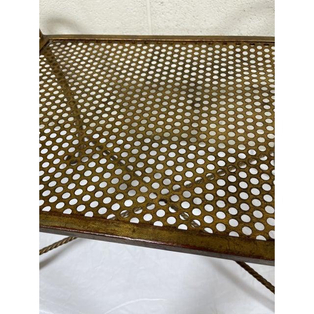 1950s Italian Hollywood Regency Scroll Tassel Vanity Bench For Sale In Richmond - Image 6 of 13