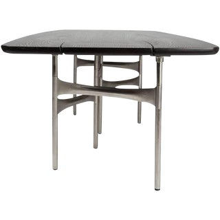 Link Dining Table Wood and Steel by Akmd Collection For Sale