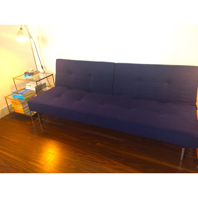 Abc Carpet & Home Crashpad Divided Daybed Sofa in Navy For Sale - Image 9 of 11