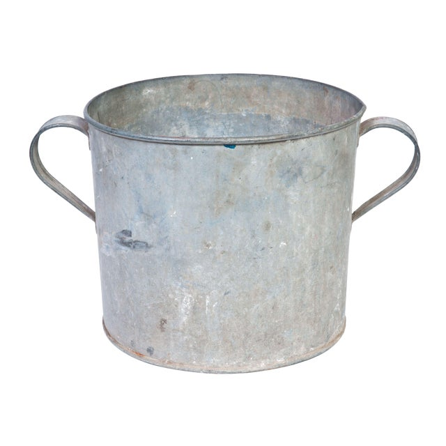 Vintage Galvanized Pot - Image 1 of 2