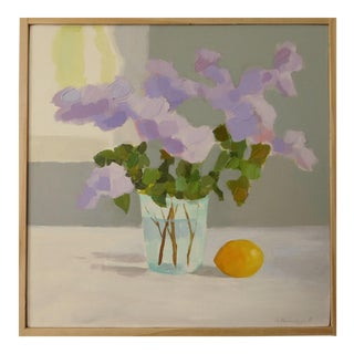 Lilac With Lemon by Anne Carrozza Remick For Sale