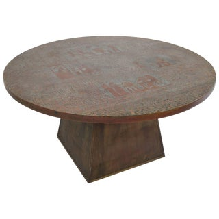 Rare Pharoah Table by Philip and Kelvin LaVerne For Sale