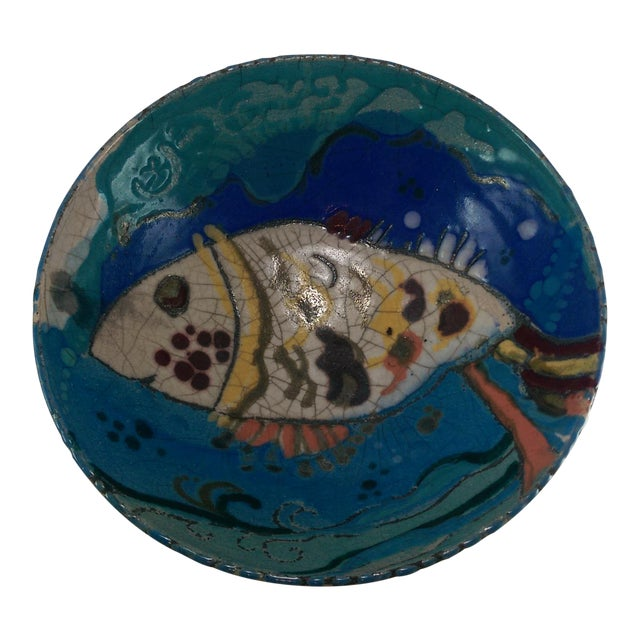 Art pottery fish bowl chairish for Fish bowl price