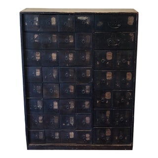 19th Century Antique Chinese Apothecary Cabinet For Sale