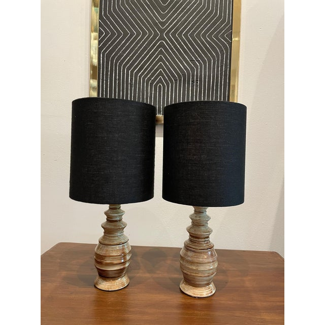 Mid-Century Handmade Pottery Lamp For Sale - Image 9 of 9