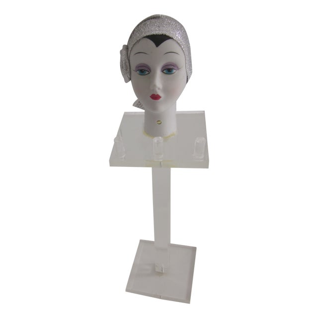 Lucite Flapper Deco Jewelry Display For Sale