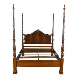 Image of Traditional Mahogany Queen Size Four Poster Bedframe For Sale