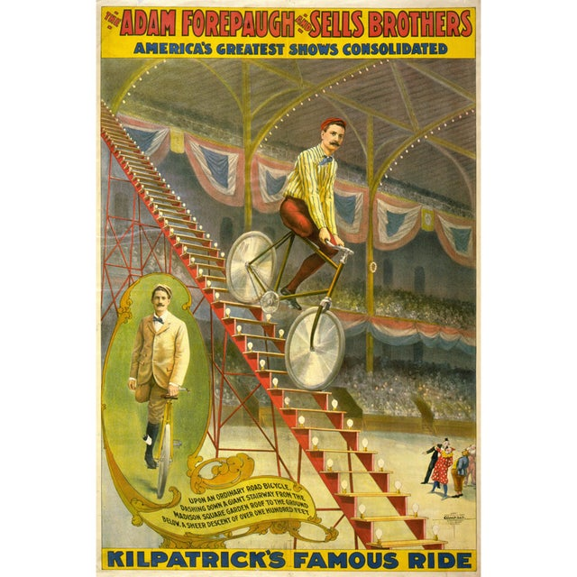 Kilpatrick's Famous Ride Print of Circus Poster - Image 1 of 4