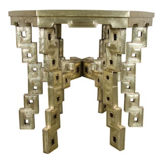 Hexagonal Table - Brass For Sale