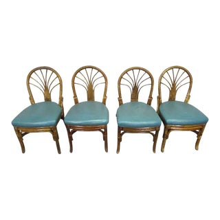 Art Deco Bamboo Bent Wood Chairs - Set of 4 For Sale