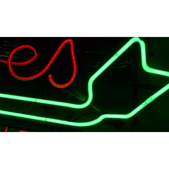 Orange Neon Sign From Department Store, Men's Shoes, Lower Level, Circa 1930s. For Sale - Image 8 of 13