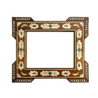 Vintage Mother of Pearl Inlay Photo Frame For Sale