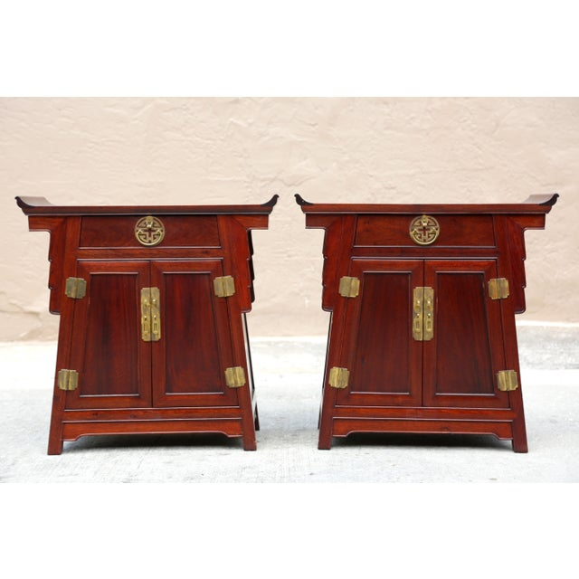1980s Chinoiserie Carved Wood Pagoda Sidetables - a Pair For Sale - Image 13 of 13