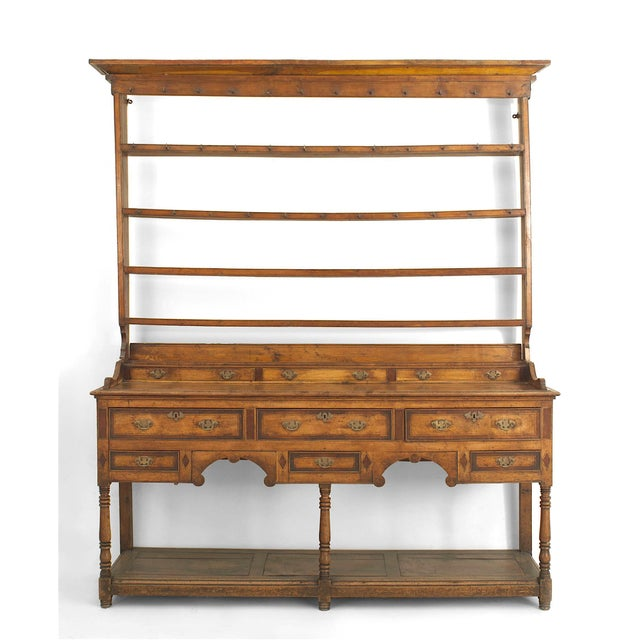 18th Century 18th Century English Country Open Shelf Oak Sideboard For Sale - Image 5 of 5