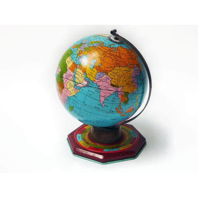 Small Tin Metal Globe C.1930s - Image 2 of 5