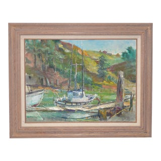 "Blessing ""Betty"" LeMohn Mendocino Coast Oil Painting C.1950s For Sale"