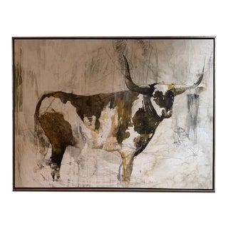 Left Bank Art Brown Bovine Giclee Print For Sale