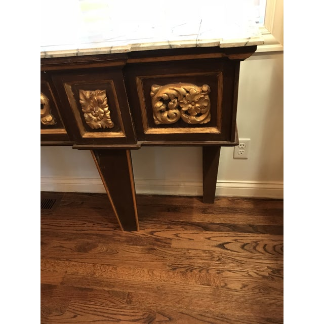 Antique Narrow Neoclassical Italian Console Table For Sale - Image 4 of 12