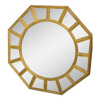 Hickory Chair Furniture Company Contemporary Gold & Eglomise Mirror For Sale