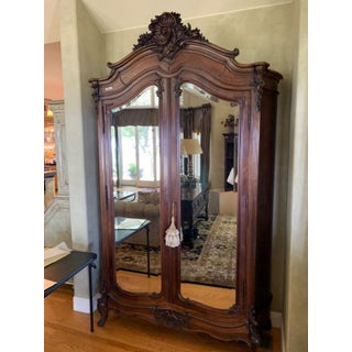 1920's French Mirrored Antique Armoire Tall Louis XV Preview