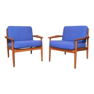 Arne Vodder Danish Modern Lounge Chairs - a Pair For Sale