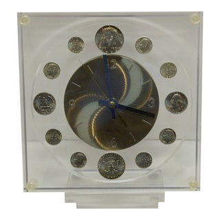 United States Silver Coinage Clock With Marion Kay Clock Face