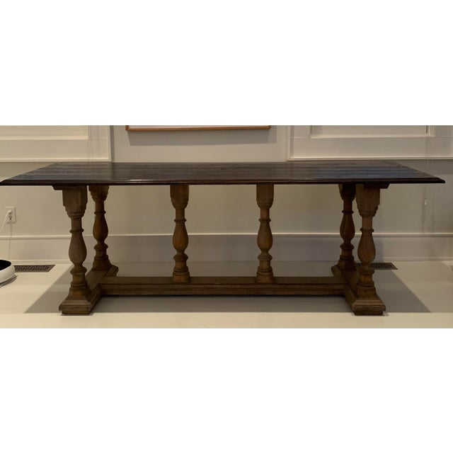 Oak Carved Library Table For Sale In New York - Image 6 of 6