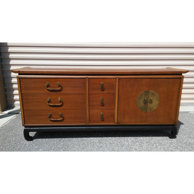 Vintage Kent Coffey Amerasia Chinoiserie Dresser Buffet Credenza For Sale - Image 13 of 13