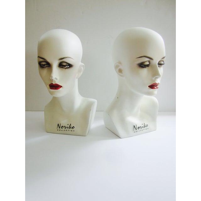 Vintage Modernist Mannequin Display Heads - Pair - Image 2 of 8