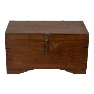Antique Indian Wooden Accountant's Box For Sale