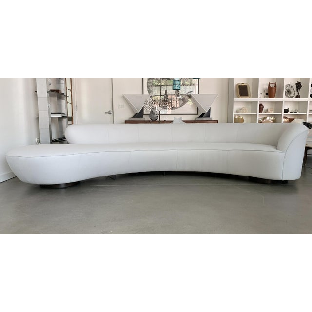 """Designer: Vladimir Kagan Directional USA - Designed 1960s Dimensions: 30"""" H x 140"""" W x 62"""" D Condition: Newly Upholstered..."""