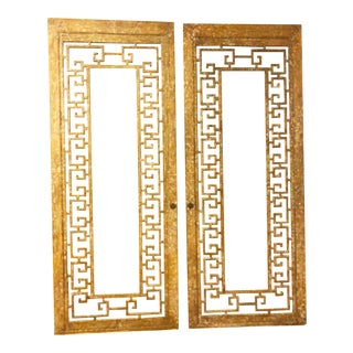 Antique Greek Key Doors - A Pair For Sale