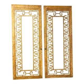 Antique Greek Key Doors - A Pair For Sale