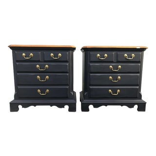 Thomasville American Oak Nightstands-a Pair For Sale