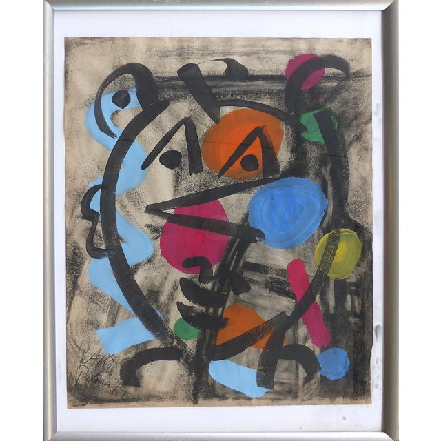 1960s Abstract Mixed Media Painting by Peter Robert Keil For Sale - Image 9 of 9