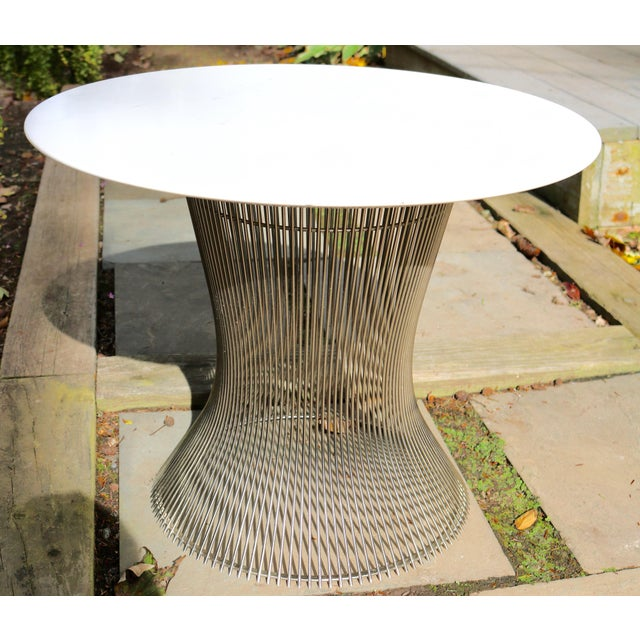 White 1960s Mid-Century Modern Warren Platner Marble Top Table For Sale - Image 8 of 8