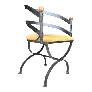 Rare Adrian Pearsall Wrought Iron Chair Craft Associates For Sale