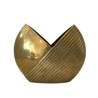 Vintage Solid Brass Vase