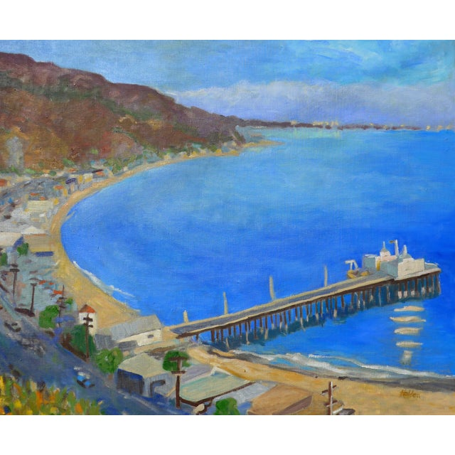 """""""Malibu Pier, California"""" Contemporary Oil Painting by Martha Holden For Sale - Image 4 of 8"""