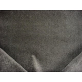 Traditional Robert Allen Wool Velvet Thunder Grey Drapery Upholstery Fabric - 6-7/8y For Sale
