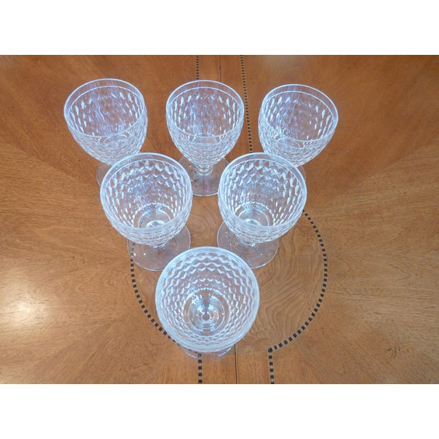 Multi Faceted Crystal Water Goblets - 6 - Image 4 of 7