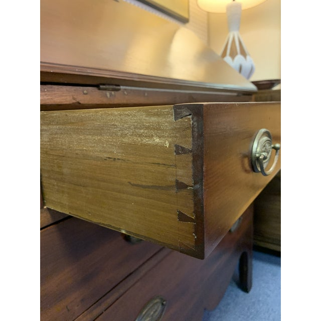 Brown 19th Century Chippendale English Hepplewhite Style Drop Top Desk For Sale - Image 8 of 12