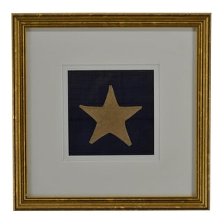 Star From 36 Star Civil War Flag Hands-On, 1864 For Sale
