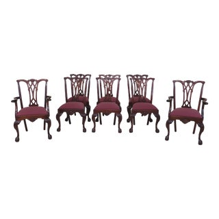 Craftique Ball & Claw Mahogany Dining Room Chairs - Set of 8 For Sale