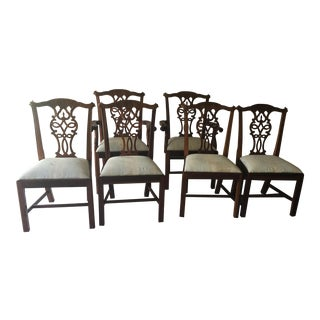 1980s Traditional Mahogany Dining Chairs - Set of 6 For Sale